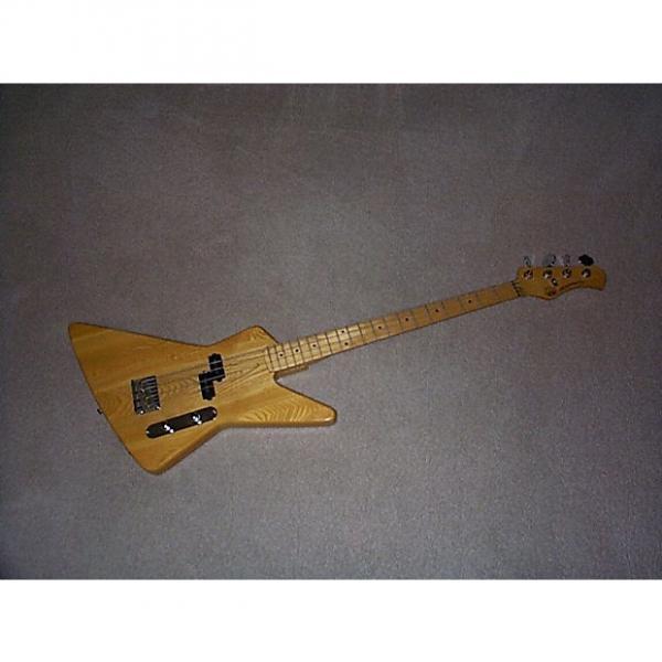 Custom Hondo Explorer 4-string bass 80's Natural #1 image