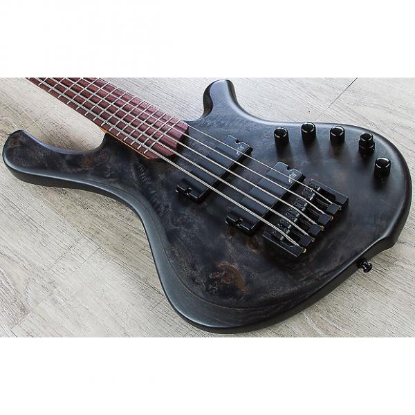 Custom Mayones BE Elite EP 5 - 5-String Electric Bass, Rosewood Fingerboard, Hard Case - Trans Black Satin #1 image