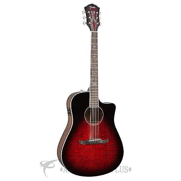 Custom Fender T-Bucket Bass E FLM Maple Acoustic Electric Guitar Trans Cherry Burst - 0968081061 #1 image