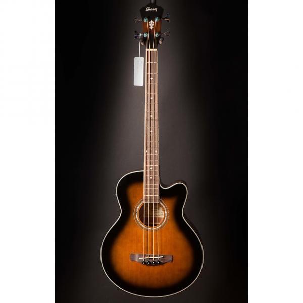 Custom Ibanez AEB10EDVS AE Acoustic Electric Bass Dark Violin Sunburst #1 image