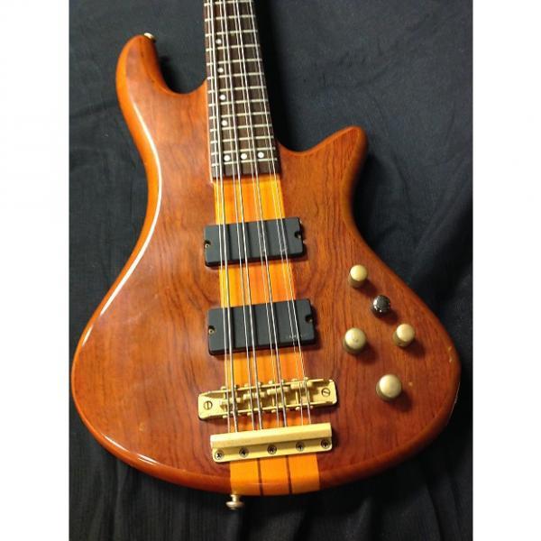 Custom Schecter Stiletto Studio 8, Diamond Series 8 String Bass 2008 Honey Satin #1 image