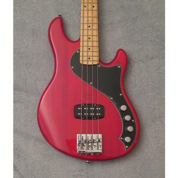 Custom Fender Squier Deluxe Dimension IV Bass Crimson Trans Red, NIB #1 image