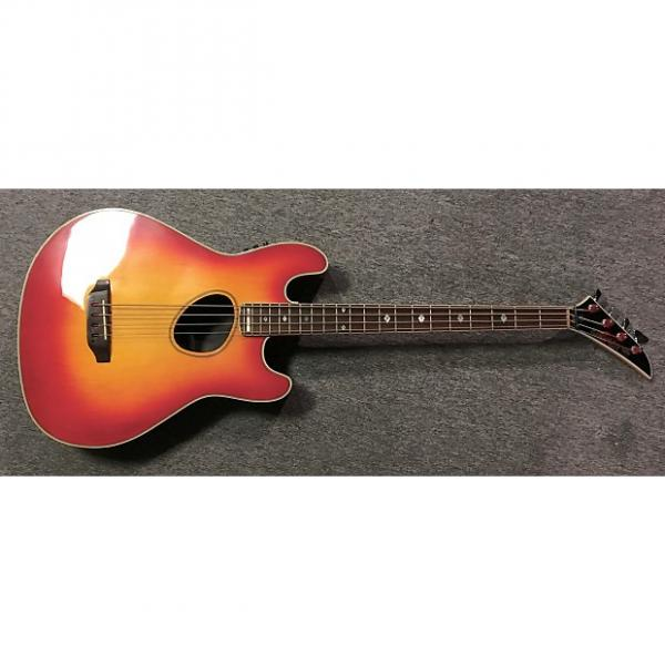 Custom Kramer Ferrington Acoustic/Electric Bass guitar 1987-88 Sunburst #1 image