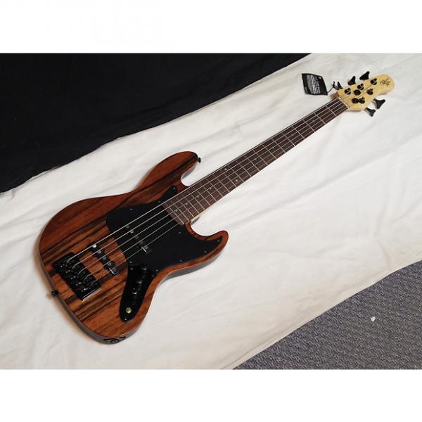 Custom MICHAEL KELLY Element 5-string electric BASS guitar NEW - Striped Ebony #1 image