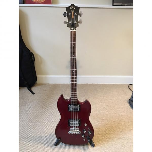 Custom Guild Jet Star II Bass 1971; Cherry mahogany #1 image