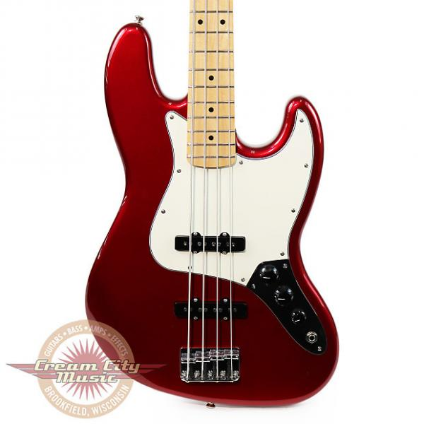 Custom Brand New Fender Standard Jazz Bass with Maple Fretboard in Candy Apple Red #1 image