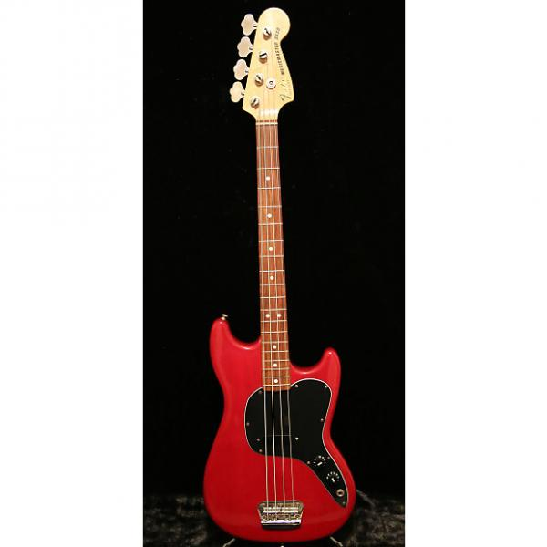 Custom 1982 Fender Musicmaster Bass with original case - Transparent Red, Made in USA #1 image