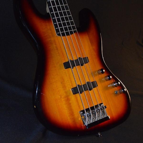 Custom Squier 3-Color Sunburst Jazz Bass V Active #1 image