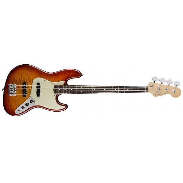 Custom Fender Limited Edition American Professional Jazz Bass FMT Aged Cherry Burst #1 image