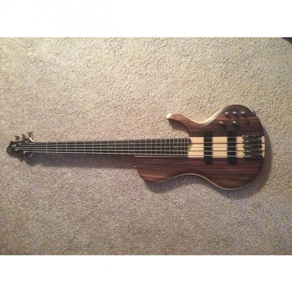 Custom Ibanez BTB 685 Terra Firma 5 String Bass Natural #1 image