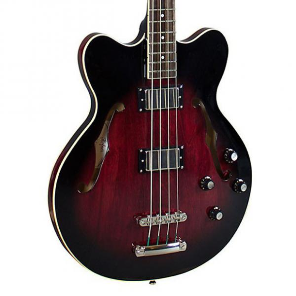 Custom Hofner HCT Verythin Bass Dark Cherry Sunburst #1 image