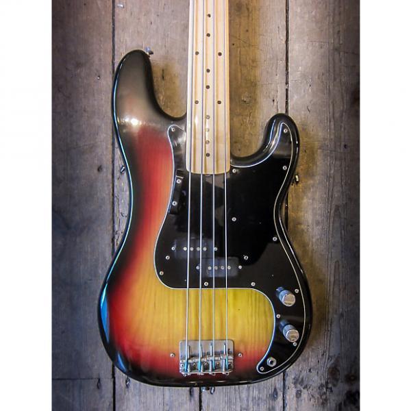 Custom 1977 Fender Precision Fretless Bass Sunburst finish Maple neck #1 image