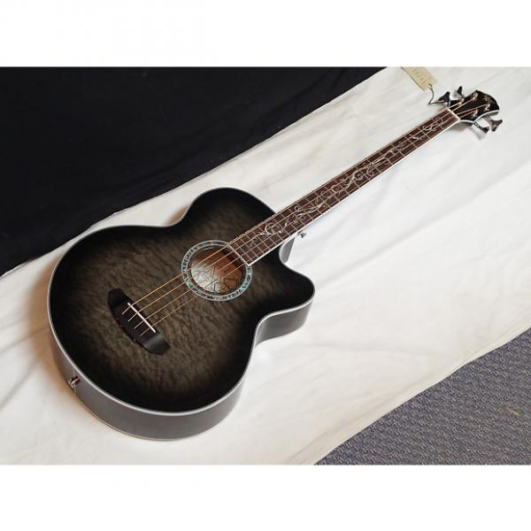 Custom NEW Michael Kelly Dragonfly 4 string acoustic bass guitar - Smoke Burst #1 image