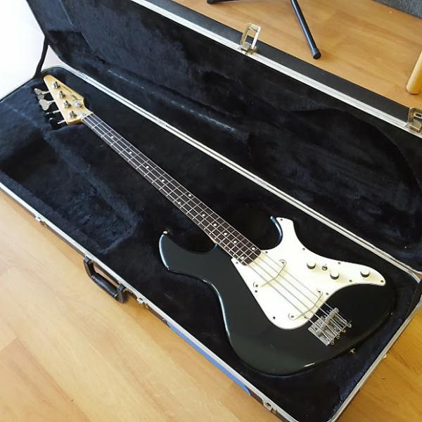 Custom Fender Performer Bass Guitar 1986 in Gunmetal Blue (w/ OHSC) #1 image