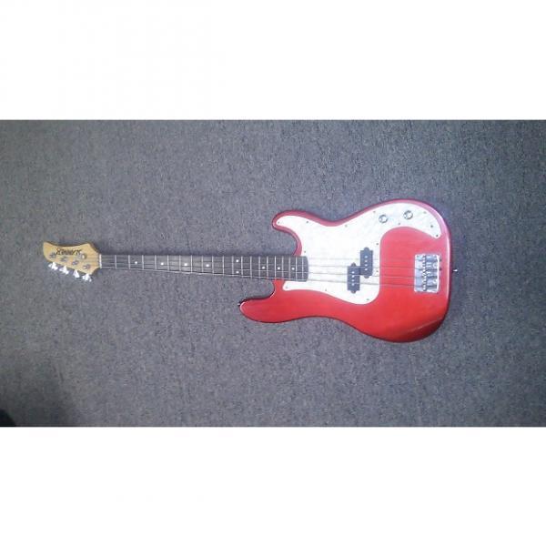 Custom Hamer Slammer Series Metallic Red 4-String Bass w/Pearloid Pickguard #1 image