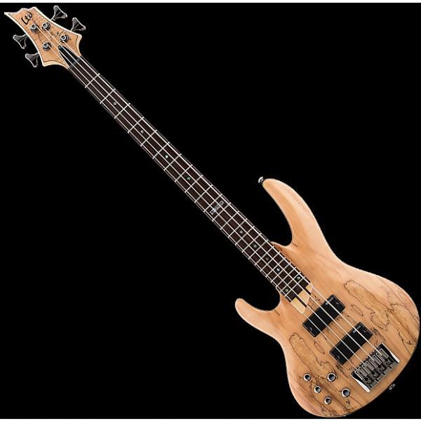 Custom ESP LTD B-204SM Left Handed Bass Guitar in Natural Stain Finish #1 image