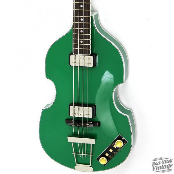 Custom Hofner Gold Label 500/1 Violin Bass Green Factory B-Stock #1 image