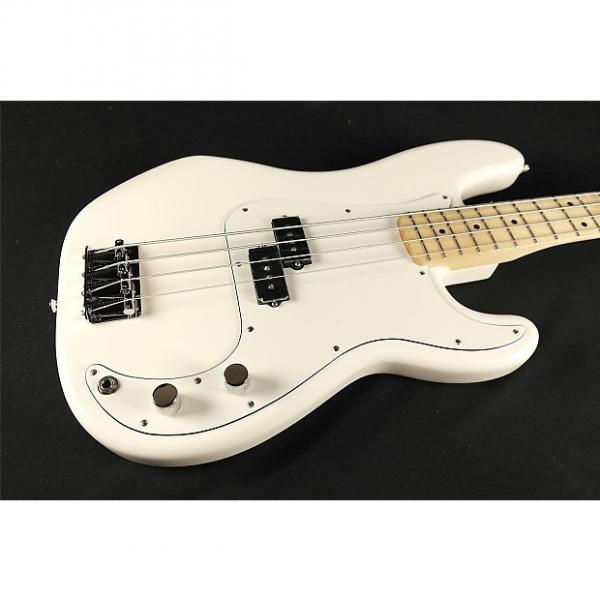 Custom Fender Standard Precision Bass Maple Fingerboard Arctic White 0146102580 (583) #1 image