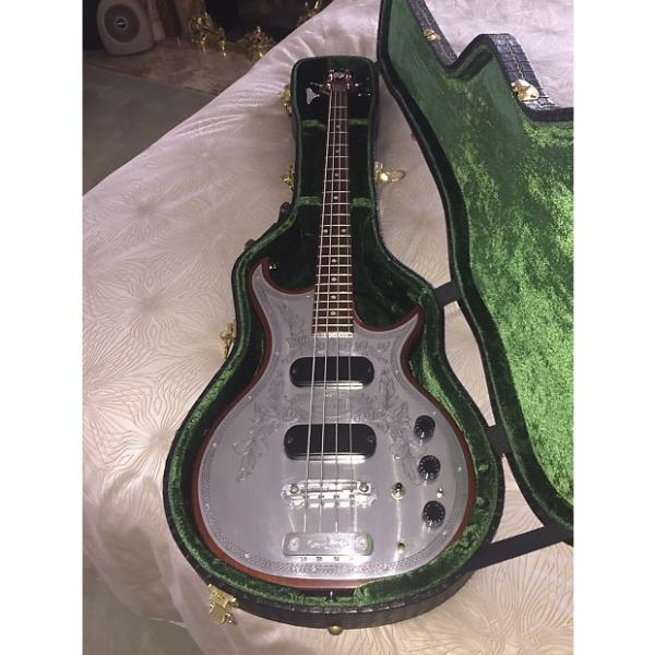 Custom Zemaitis 4 String Bass Hand Made By Tony Stratocaster Deluxe 1990 Engraved Pewter #1 image