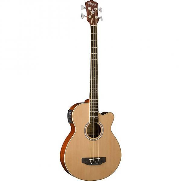 Custom Washburn AB5 4 string bass Natural #1 image