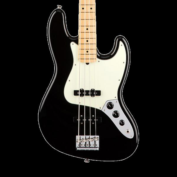 Custom Fender American Professional Jazz Bass with Maple Fingerboard - Black with Case #1 image