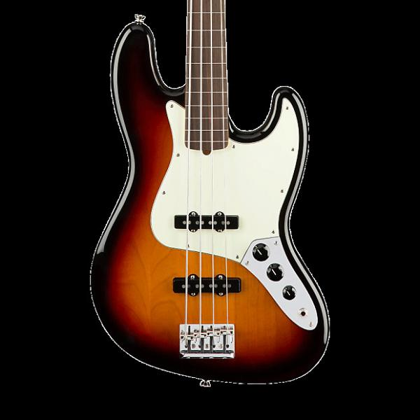 Custom Fender American Professional Jazz Bass Fretless - 3 Color Sunburst with Case #1 image
