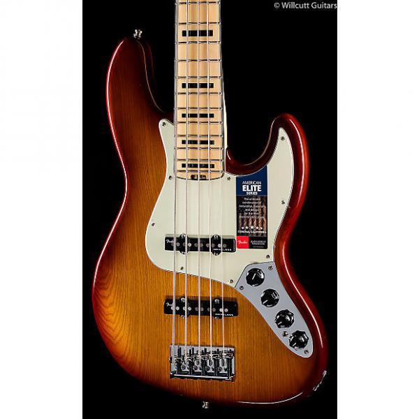 Custom Fender American Elite Jazz Bass V Tobacco Sunburst (051) #1 image