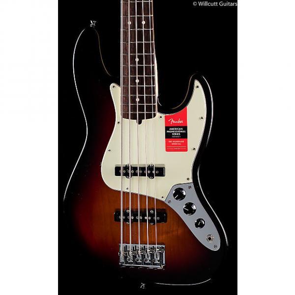 Custom Fender American Pro Professional Jazz Bass V 3-Tone Sunburst Rosewood (983) #1 image