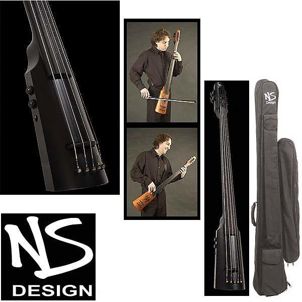 Custom NS Design NXT-5 5-String Omni Electric Bass- Black #1 image