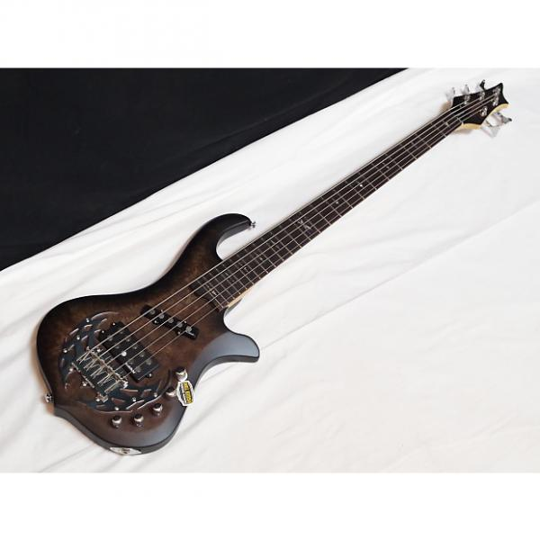 Custom TRABEN Array Attack 5-string BASS guitar Black Burl - NEW - Rockfield Pickups #1 image