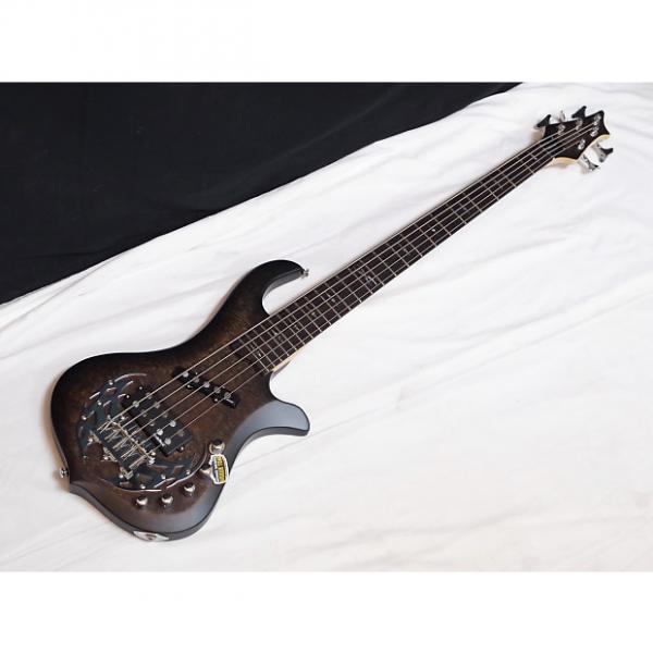 Custom TRABEN Array Attack 5-string BASS guitar Black Burl - NEW - Rockfield Pickups #1 image