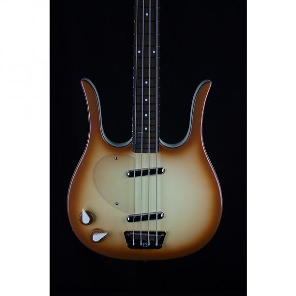Custom Danelectro D58LHBLFT Longhorn Lefty Bass Guitar in Copper - Factory 2nd #1 image