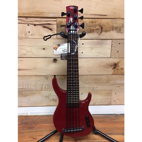 Custom Kala U-Bass Solid Body 5 Fretted Bass Red #1 image