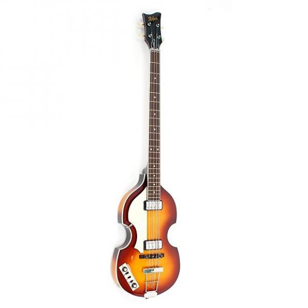 Custom Hofner Violin Bass - Contemporary Left Handed Sunburst Finish #1 image