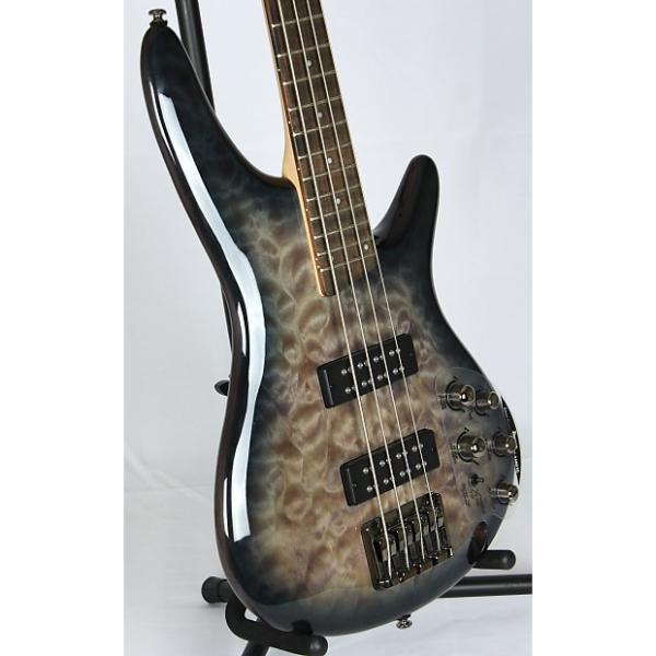 Custom Ibanez Soundgear SR-400-EQM 4 String Electric Bass Guitar 2015 Fade Blue Burst #1 image