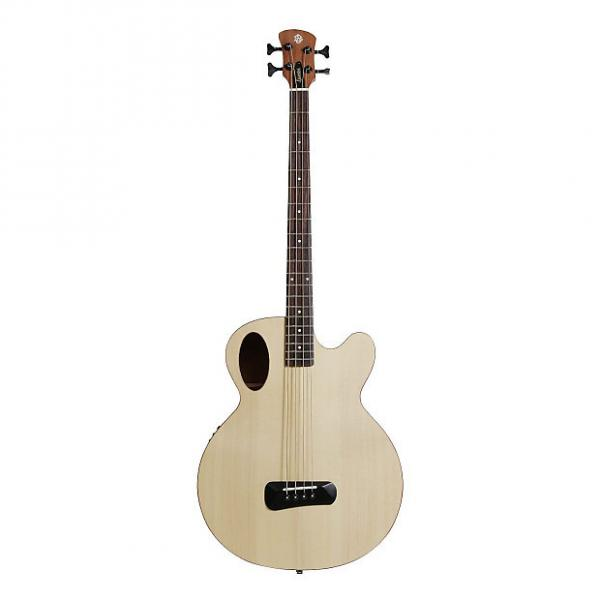 Custom Spector Timbre Series Acoustic Electric Bass Guitar Natural #1 image