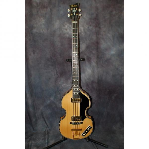 Custom 2012 Hofner 5000/1 Deluxe Violin Beatle Bass Natural Made Germany Case Candy Hardshell Case #1 image