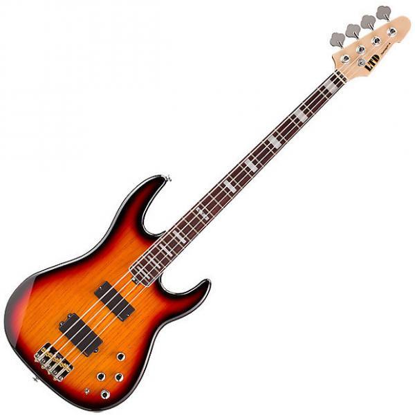 Custom ESP LTD Surveyor 4 Electric Bass in 3-Tone Burst #1 image