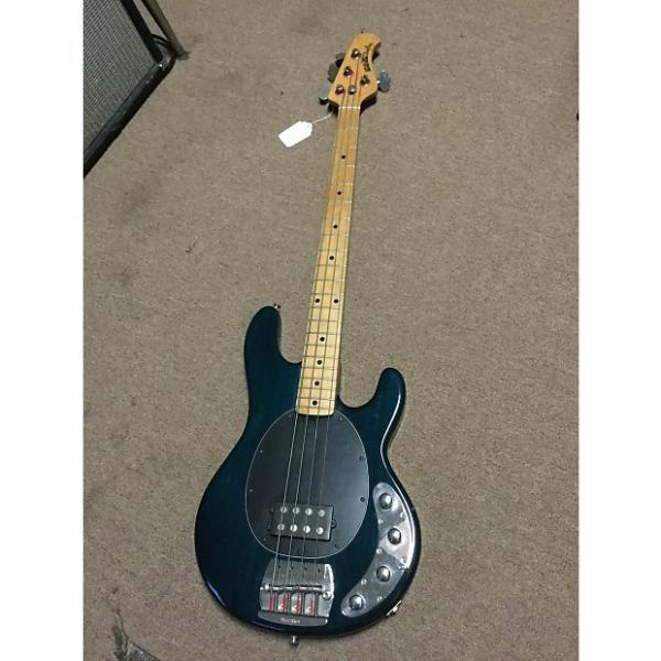 Custom Music Man Stingray Bass Guitar 1992 Transparent Teal Grean #1 image