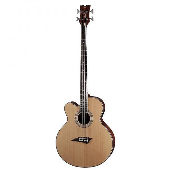 Custom Dean Guitars EAB CL Electro Acoustic Left Handed Bass Guitar - Satin Natural #1 image
