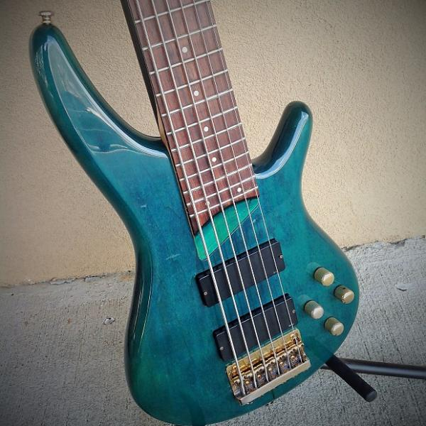 Custom Ibanez SR506 Six-String Electric Bass #1 image