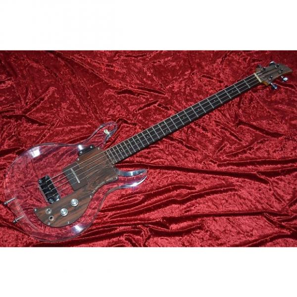 Custom 1969 Ampeg Dan Armstrong clear Lucite bass excellent rare orig. hard case #1 image