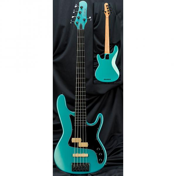 Custom Kiesel Carvin PB5 5 String Bolt Neck Classic Electric Bass Guitar Blue Mist Metallic w/ Soft Case #1 image