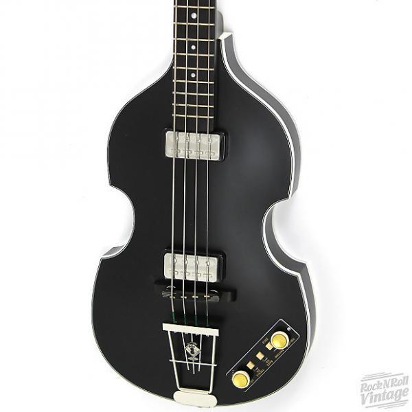 Custom Hofner 500/1 Gold Label Violin Bass Matte Black #1 image