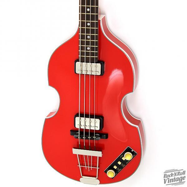 Custom Hofner 500/1 Gold Label Violin Bass Red B-Stock #1 image