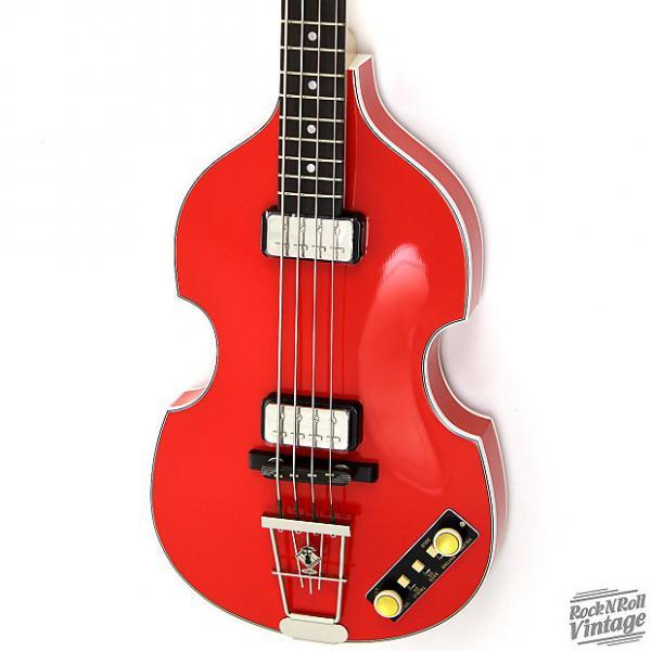 Custom Hofner 500/1 Gold Label Violin Bass Red #1 image