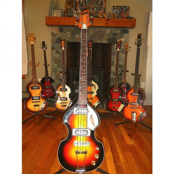 Custom Aria Diamonds Beatle/violin 1960's 3 Tone Sunburst #1 image