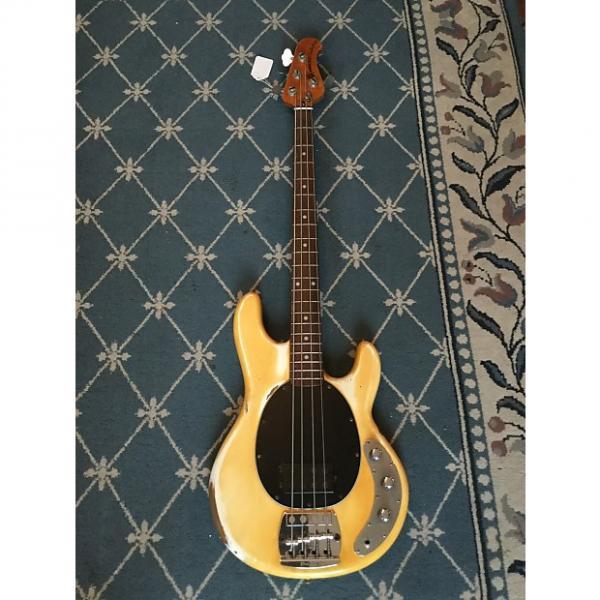 Custom Music Man Stingray Bass Guitar 1979 Yellowed Olympic White #1 image