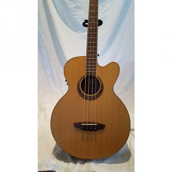 Custom Luna Acoustic Electric Bass - Muse Natural #1 image
