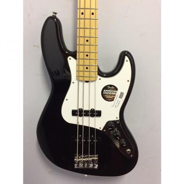 Custom Fender American Standard Jazz Bass Maple Fingerboard Black 2015 Black #1 image